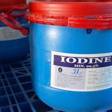Iodine 99% (hạt), 25 kg/thùng